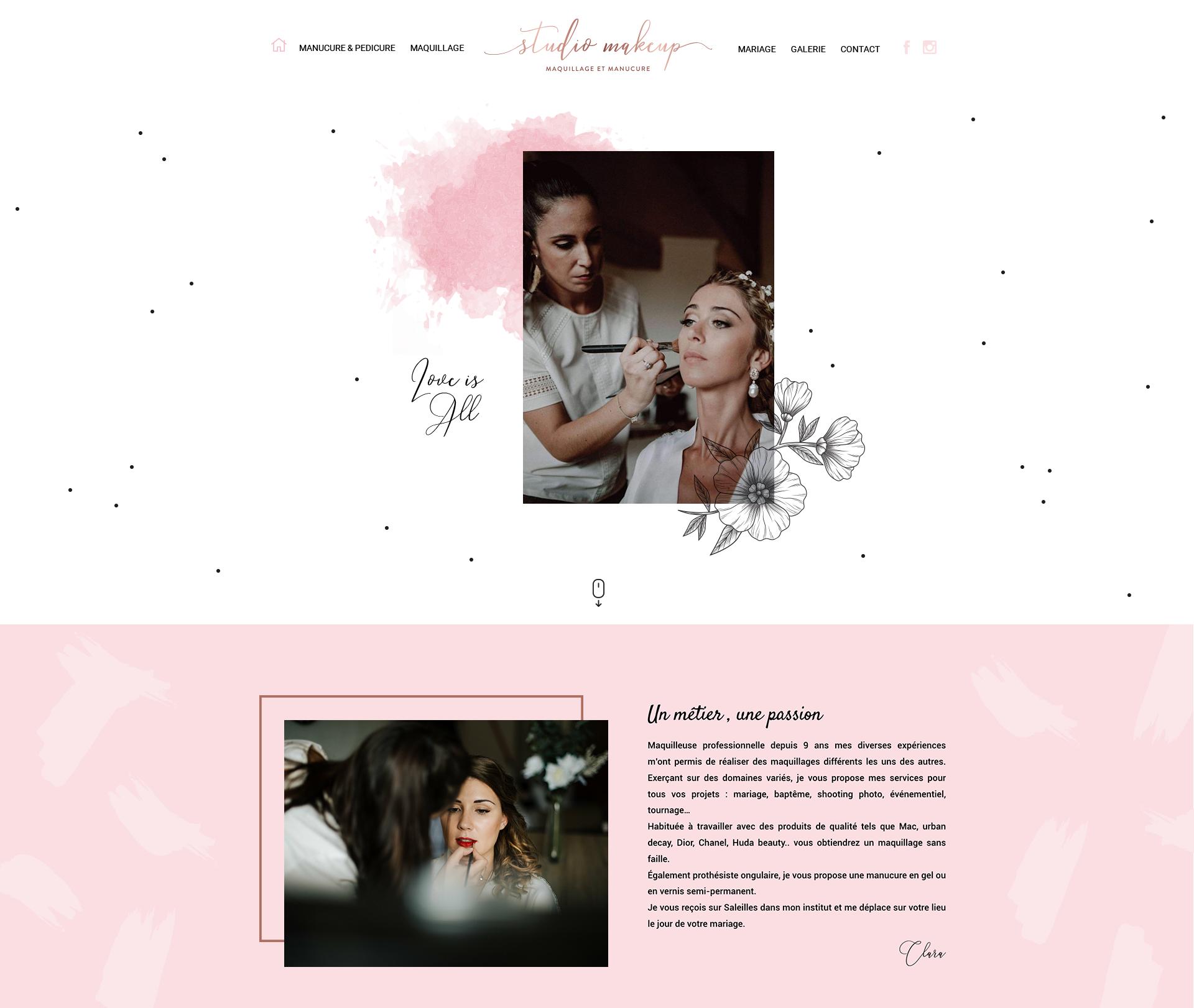 Site web Studiomakeup.fr