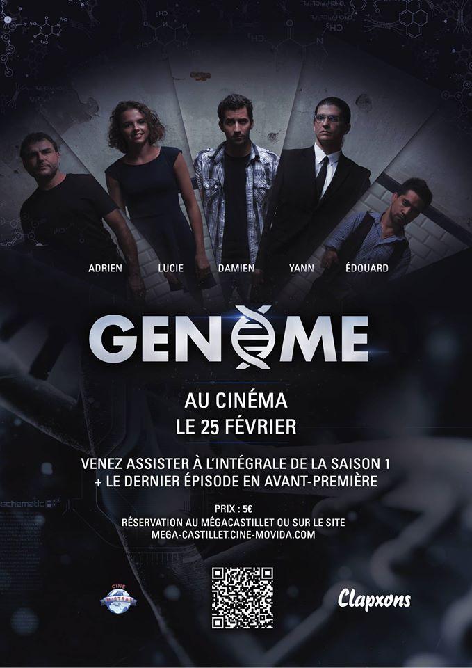 Affiche pour websérie perpignanaise Genome